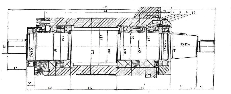 Устройство шпинделя токарного станка по металлу