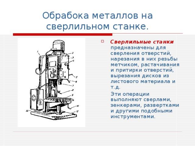 6.5. технология обработки на сверлильных станках и оснастка