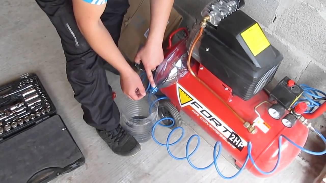 Воздушный поршневой компрессор – первый запуск | обслуживание