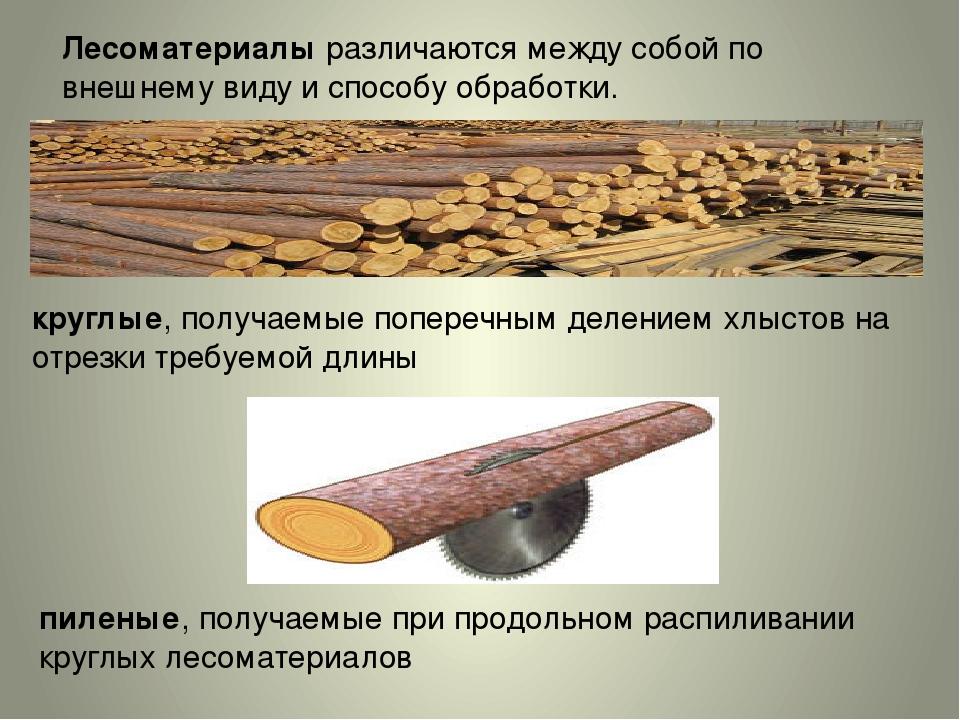 Пиленые лесоматериалы и полуфабрикаты