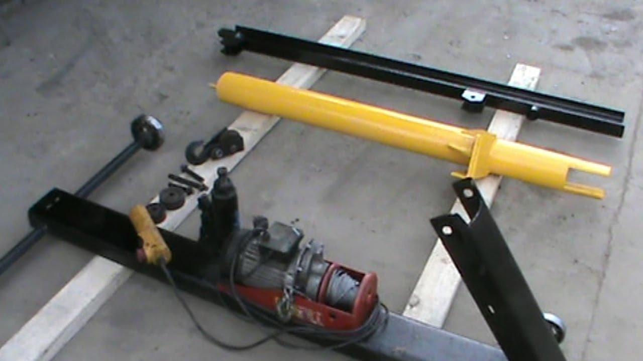 Как своими руками сделать автоподъемник для гаража, виды и конструкции, чертежи и инструменты