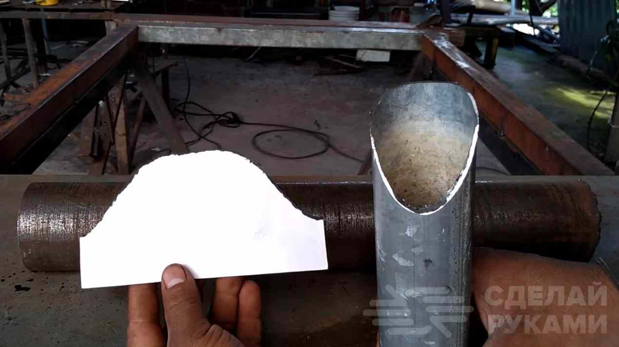 Как отрезать трубу по размеру