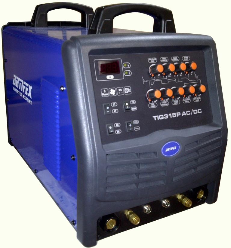 Сварочный аппарат tig для аргонодуговой сварки постоянным ac и переменным dc током