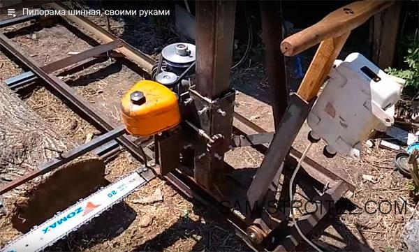 Как своими руками изготовить универсальную пилораму из бензопилы урал