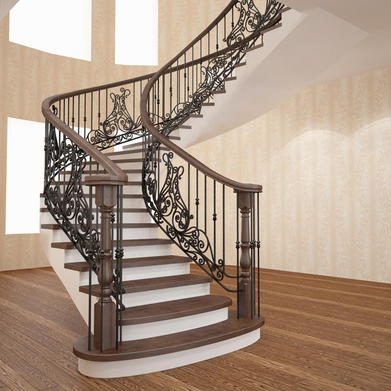Кованые винтовые лестницы: фото в интерьере дачи