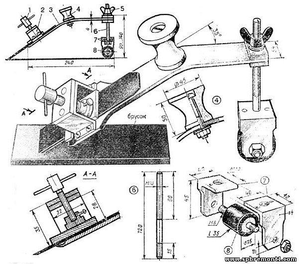 Как сделать рейсмус из электрорубанка своими руками: чертежи, видео