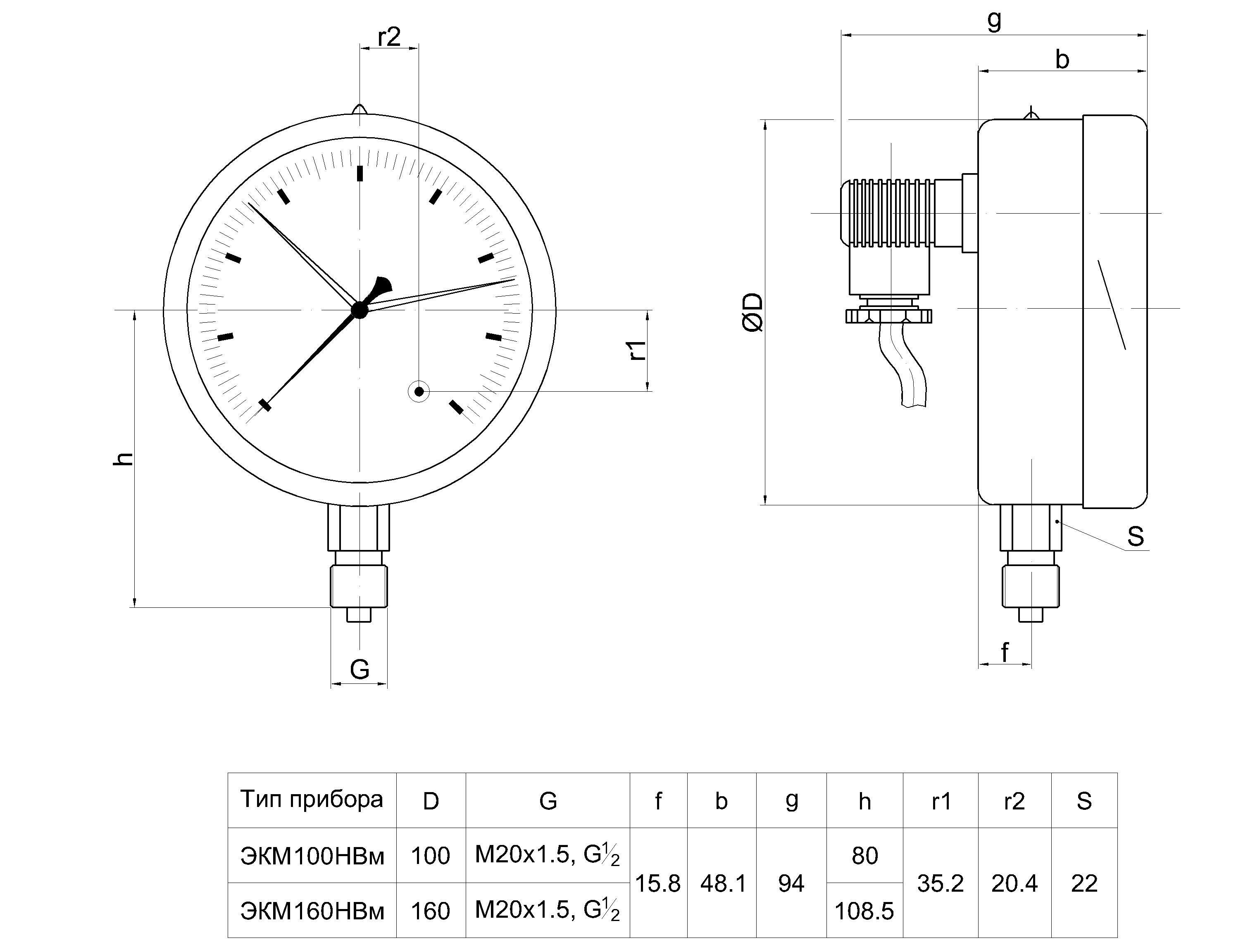 Электроконтактные манометры и работа исполнений контактных групп