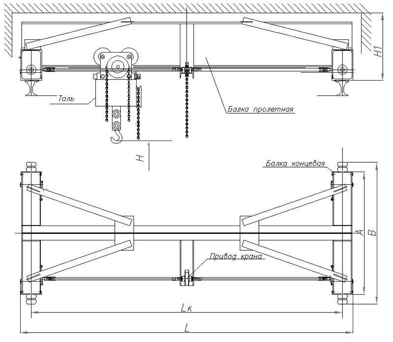 Кран мостовой двухбалочный: устройство, назначение, монтаж