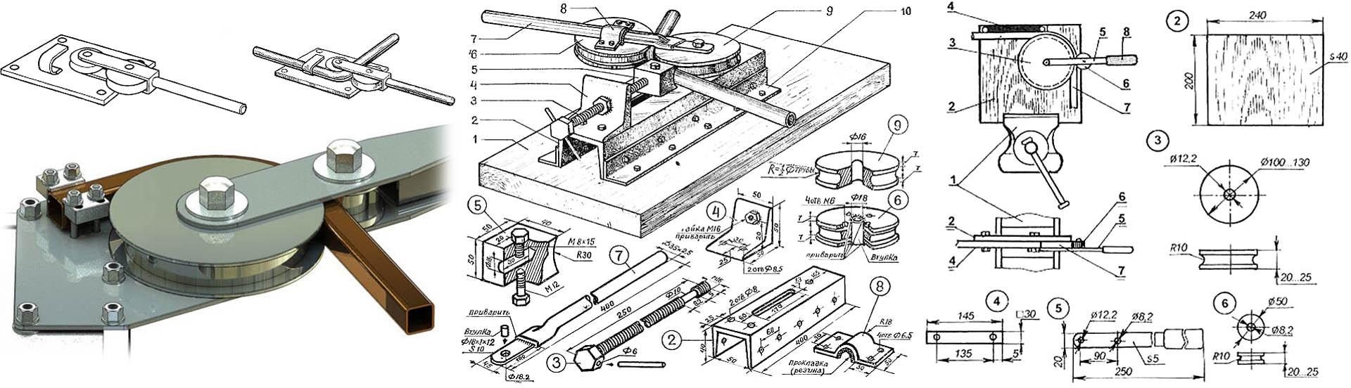 Ручной трубогиб (31 фото): обзор универсальных трубогибочных станков. как пользоваться? как он работает?