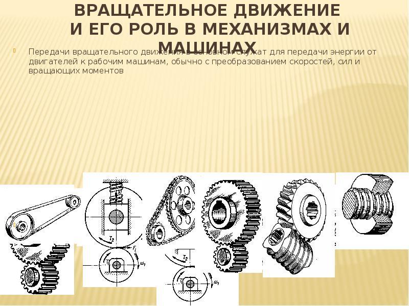 Механические передачи. виды передач