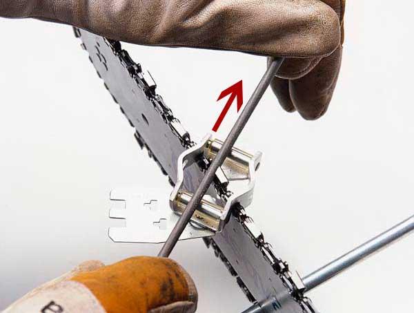 Заточка цепи напильником: способы, особенности