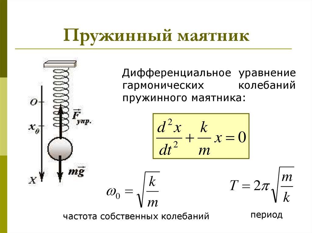 2.2. свободные колебания. пружинный маятник