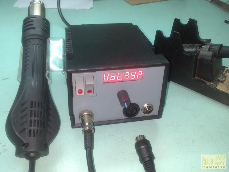 Устройство самодельной паяльной станции и сборка мощного термовоздушного паяльного фена из подручных средств