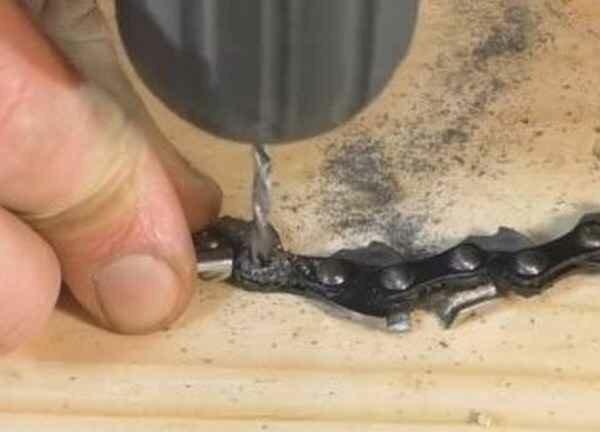 Как укоротить цепь бензопилы своими руками видео