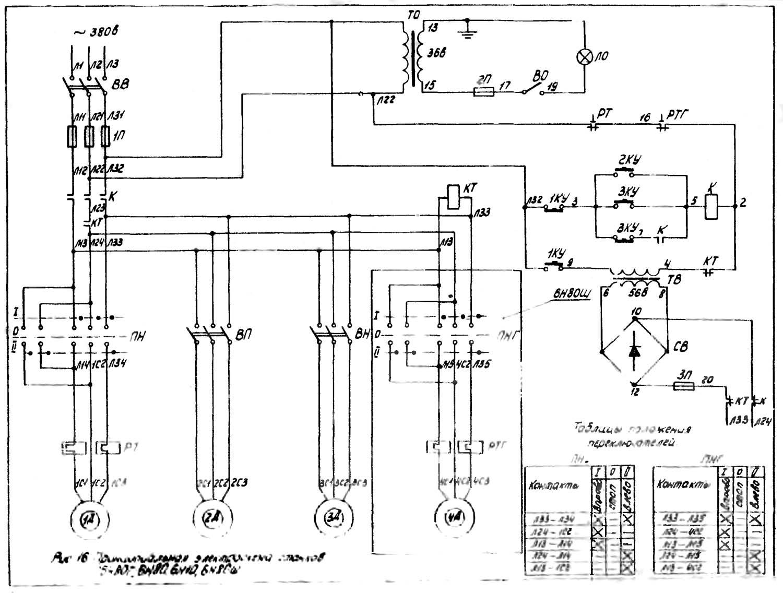 Электрооборудование металлообрабатывающих станков,принципиальная электрическая схема управления эп вертикально-фрезерного станка