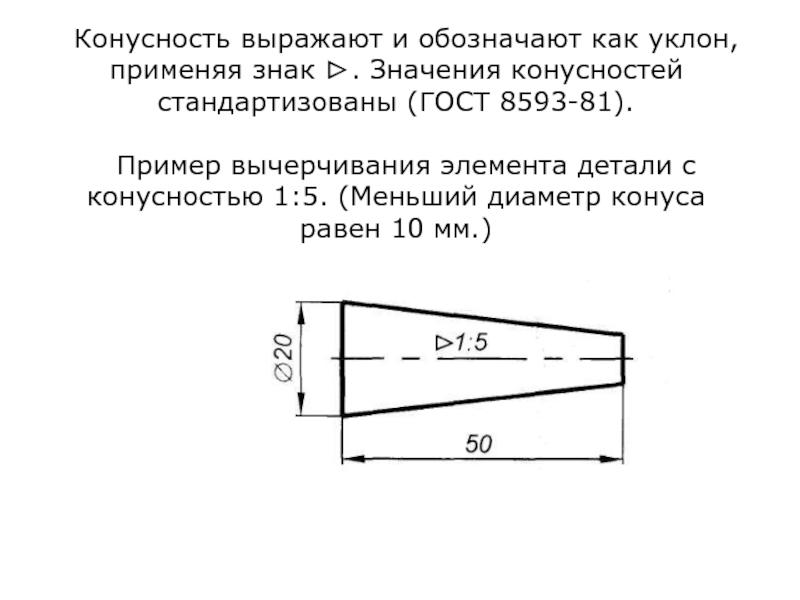 Что такое конусность? формула для расчёта конусности. обозначение конусности на чертежах