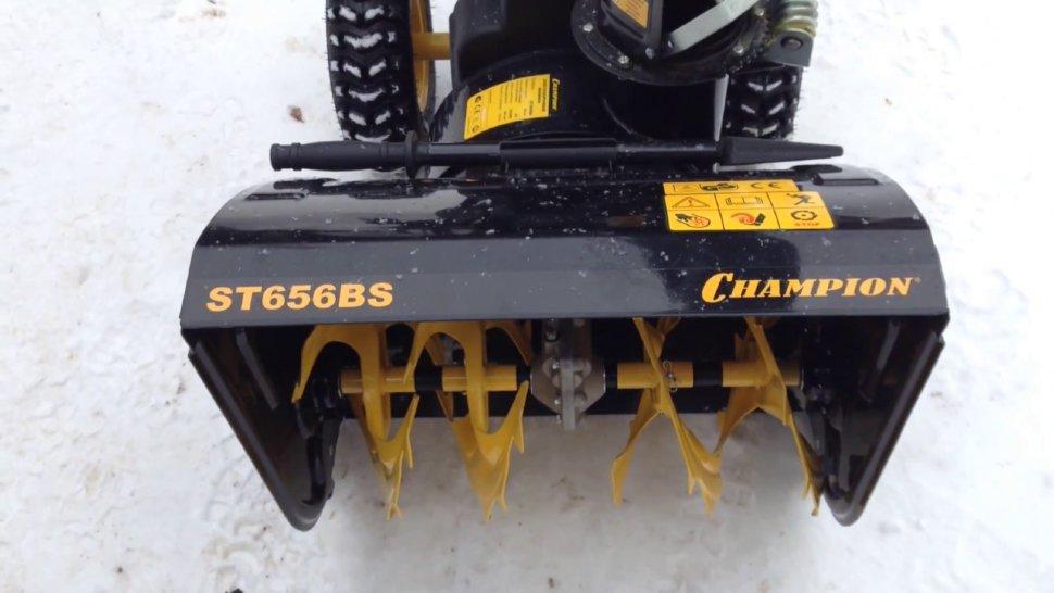 Снегоуборщик champion st656bs. обзор, характеристики, отзывы владельцев