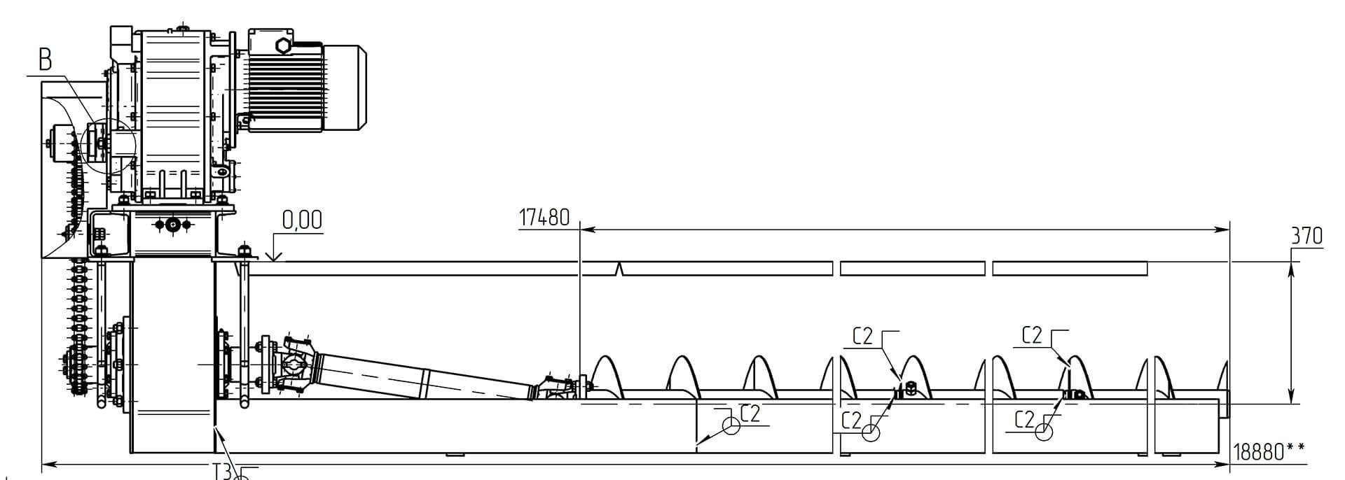 Область применения шнековых транспортеров
