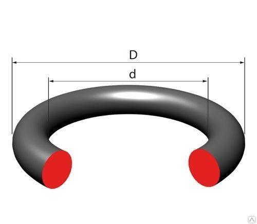 Резиновое кольцо уплотнительное круглого сечения