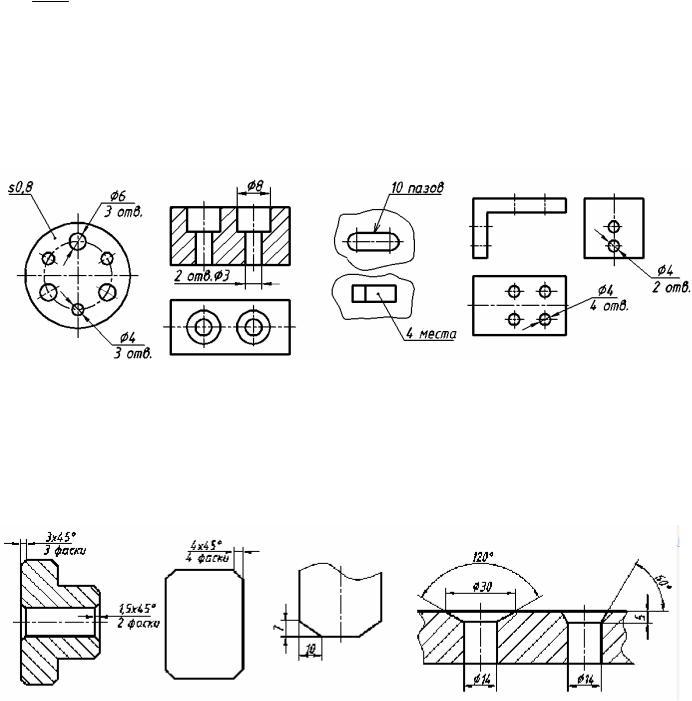 Фаска как конструктивный элемент детали