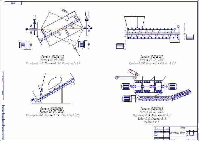 Устройство шнека для цемента и область его применения