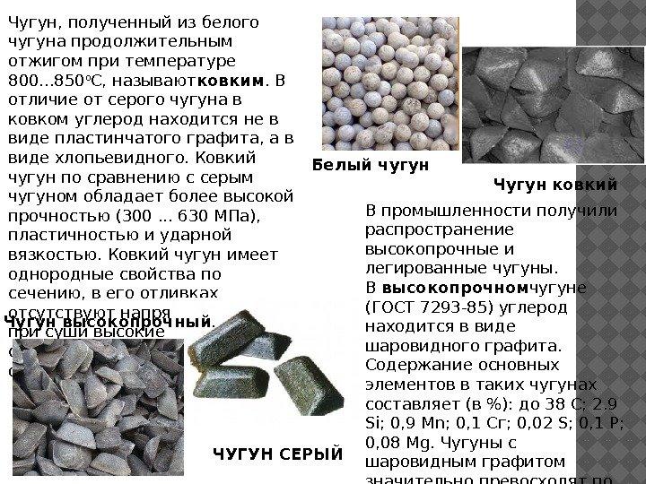 Получение - ковкий чугун  - большая энциклопедия нефти и газа, статья, страница 1