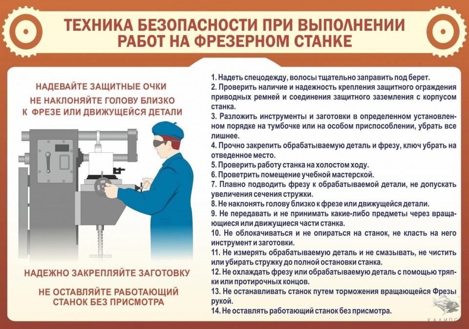 Техника безопасности на токарном станке