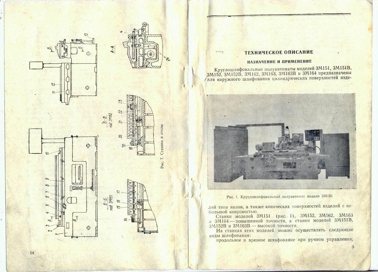 Круглошлифовальный станок модели 3м151 (стр. 5 из 6)