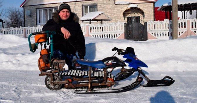 Снегоход своими руками из бензопилы - схемы изготовления, чертежи, дружба, урал, штиль