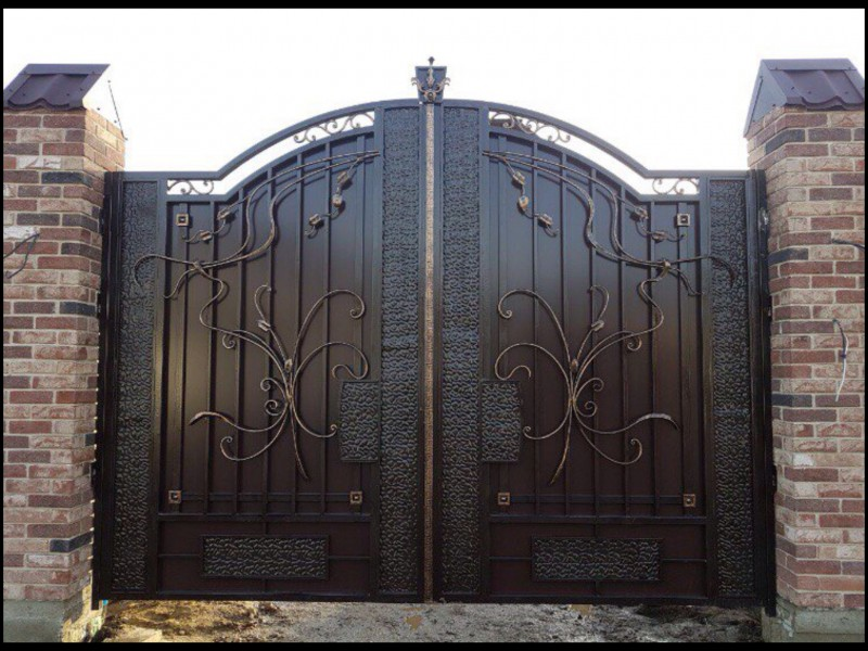 Кованые двери (42 фото): входные железные модели со стеклом и коваными элементами, изделия с ковкой для частного дома