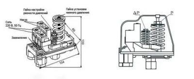 Реле давления для компрессора: устройство, маркировка, подключение и регулировка - точка j