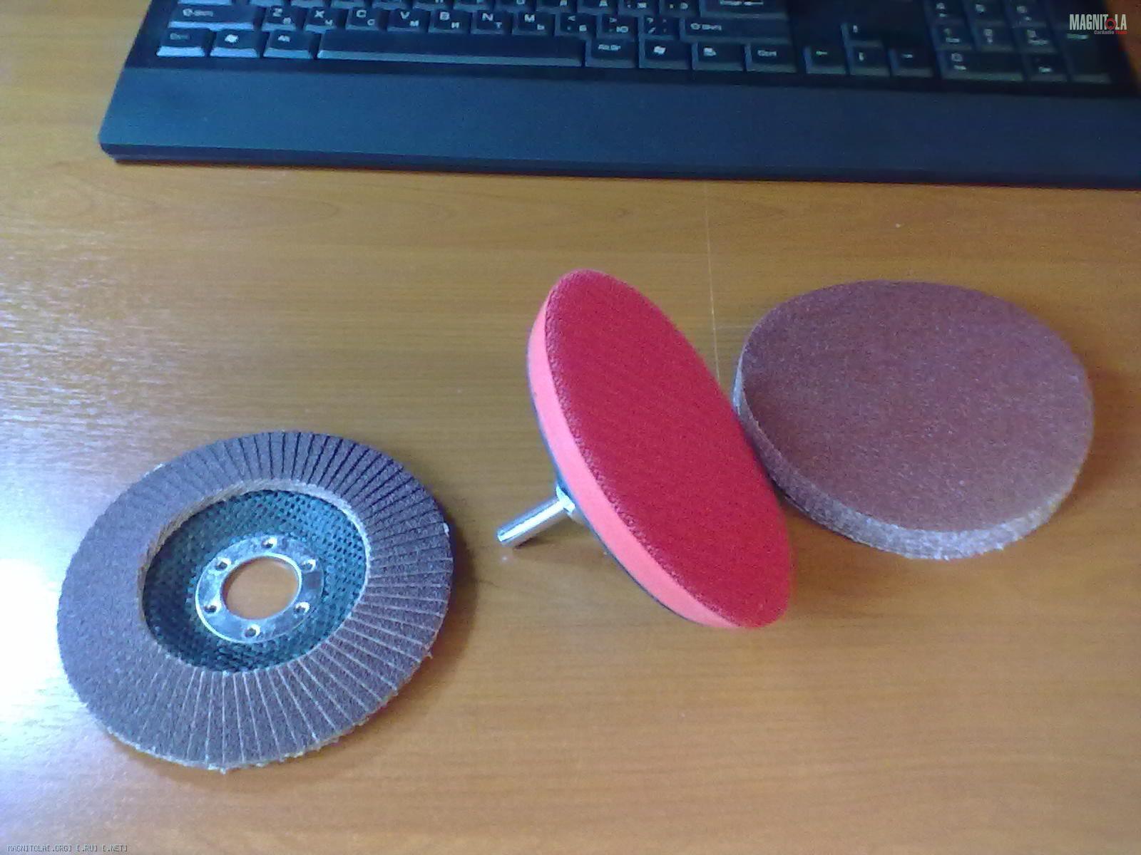 Самодельная насадка (круг) на дрель для полировки