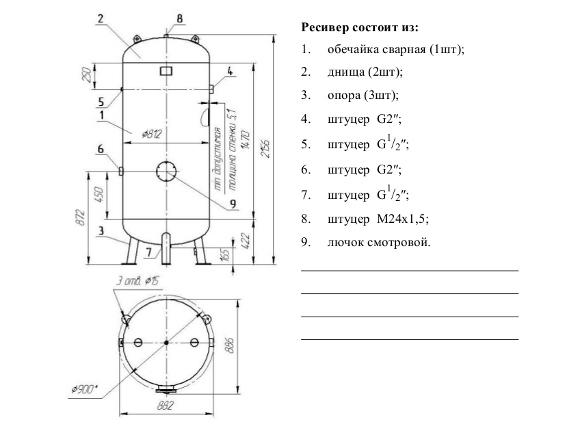 Для чего нужен ресивер в компрессоре?