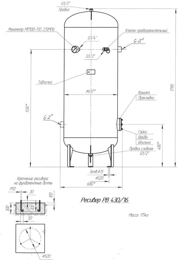 Ресивер для компрессора: назначение, параметры, виды оборудования