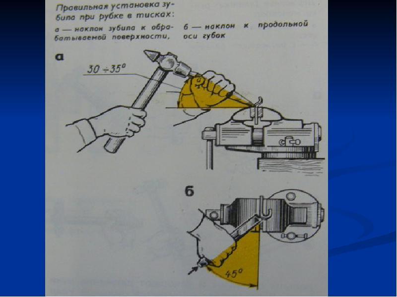 Слесарное дело. механизация процесса рубки