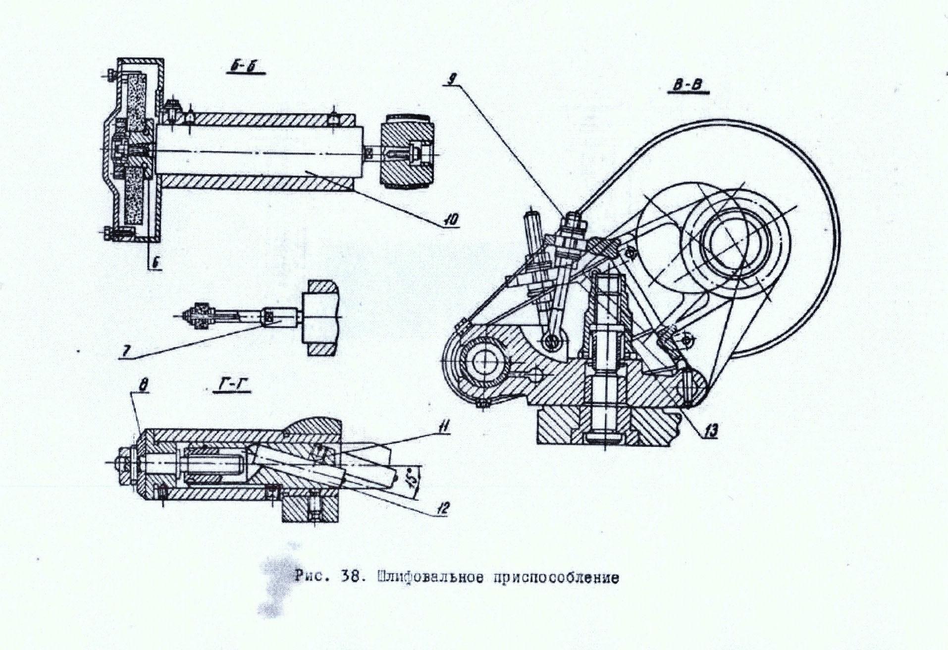 Хайтек головка шлифовальная для токарного станка вгр-300