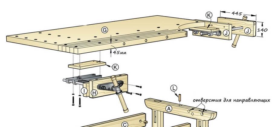 Столярный верстак своими руками — пошаговые инструкции с чертежами и размерами