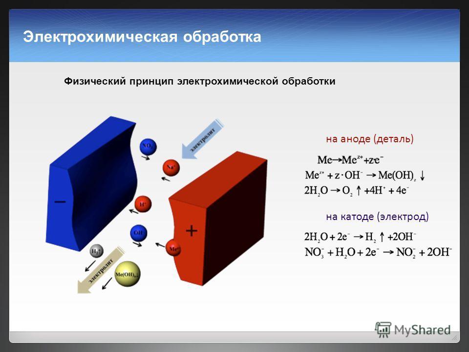 Электрохимическая обработка — википедия