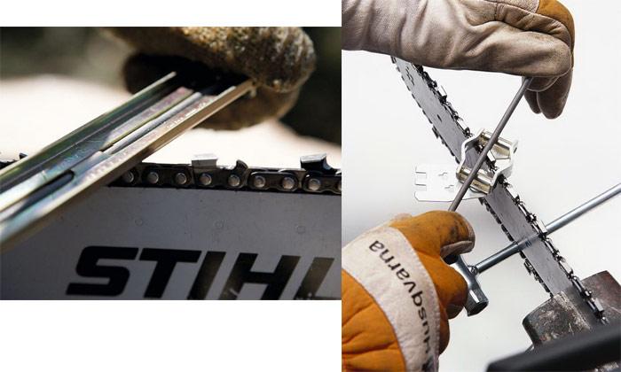 Заточка цепей бензопил своими руками: инструкция и видео