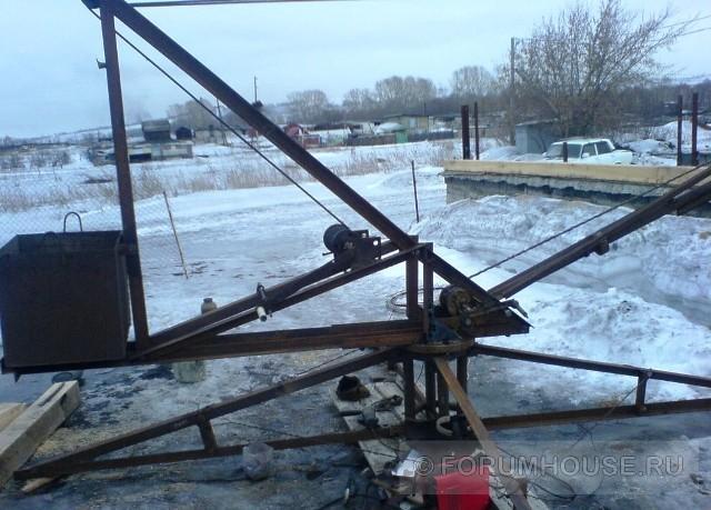 Как изготовить подъемный строительный кран своими руками