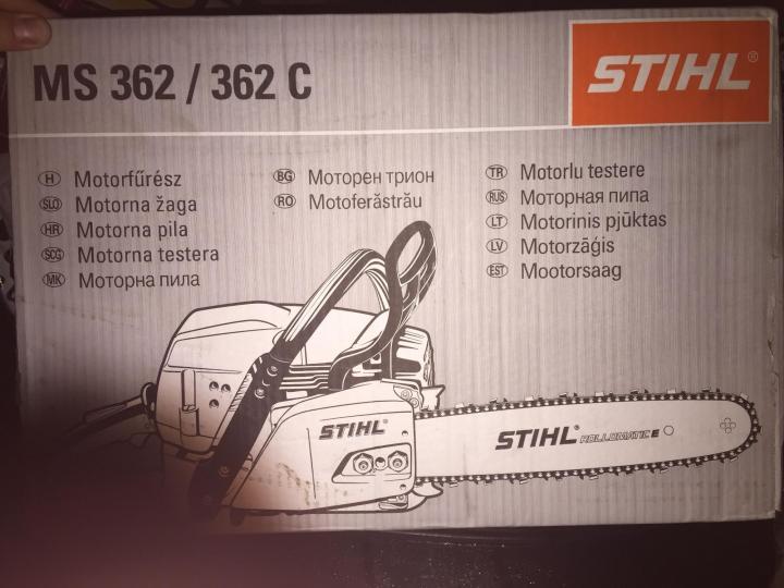 Обзор полупрофессиональной бензопилы Stihl MS 362