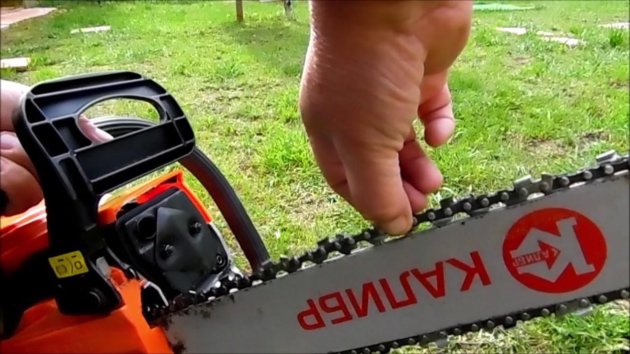 Как укоротить цепь бензопилы, если она растянулась