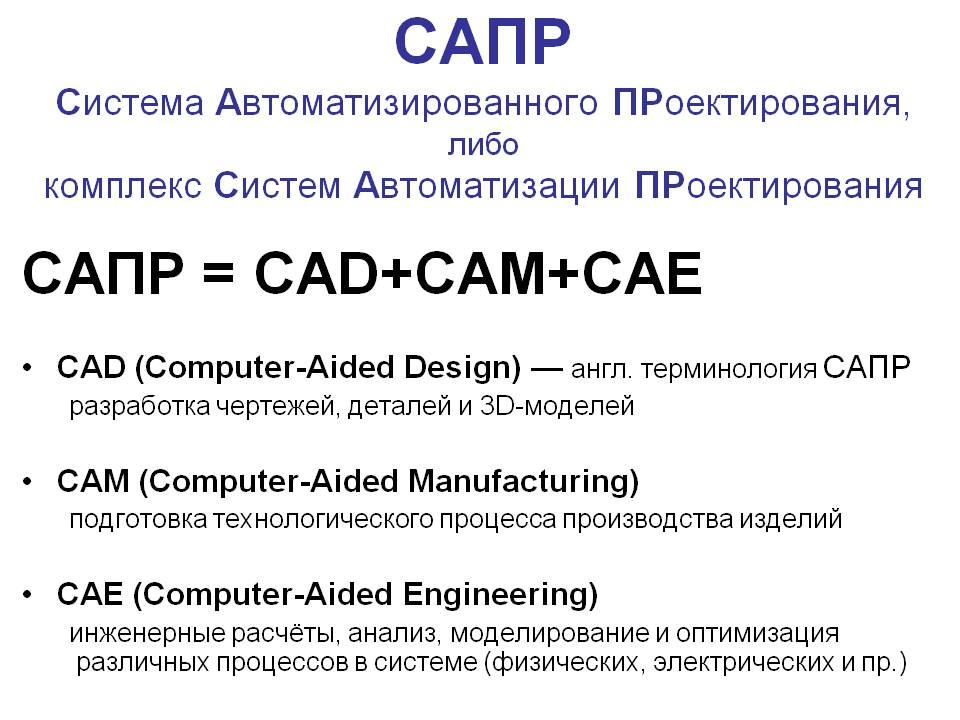 Обзор различных систем cad/cam/cae/gis www.cad.dp.ua