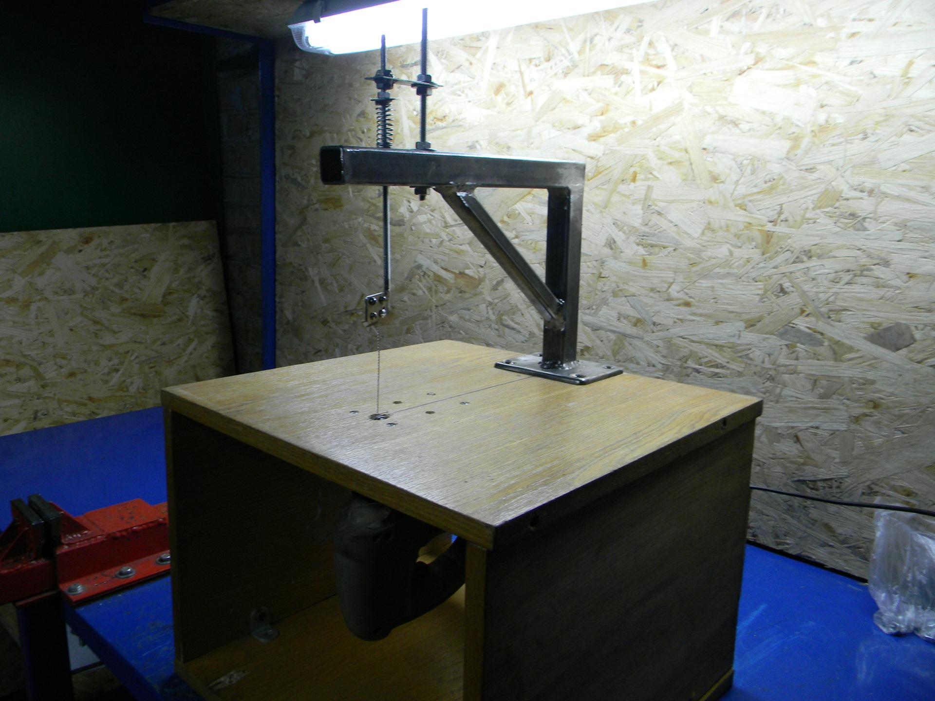 Как сделать лобзиковый станок своими руками из электролобзика с чертежами?