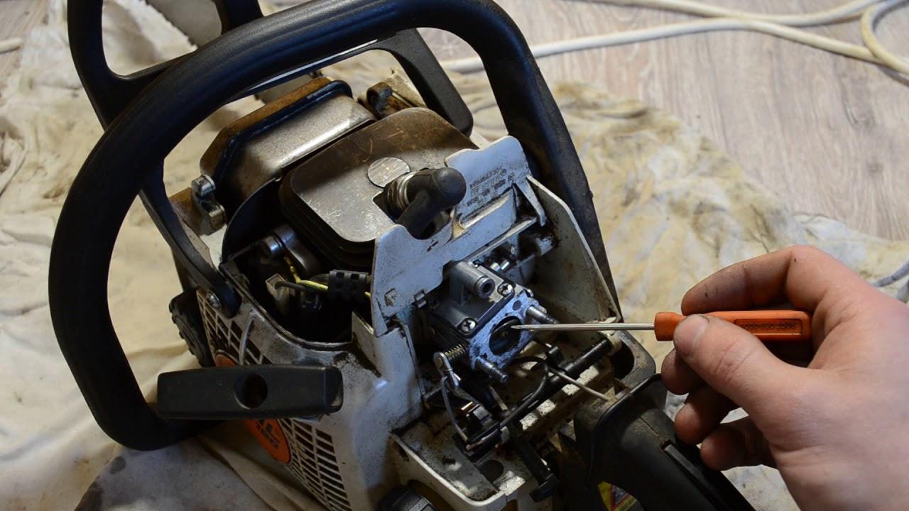 Почему пила штиль 180 не развивает обороты: причины и ремонт