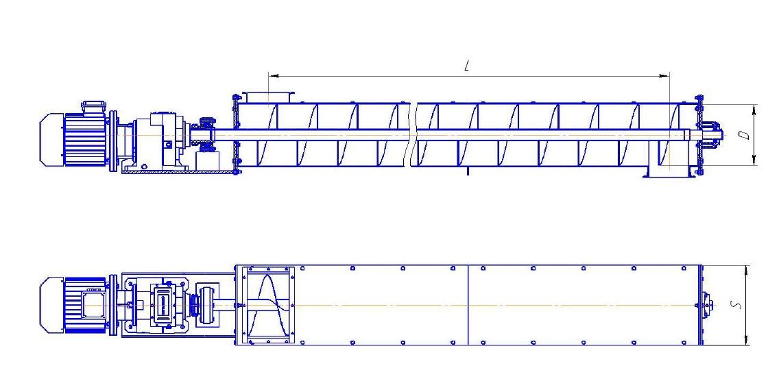 Шнековый транспортёр: описание, область применения, разновидности