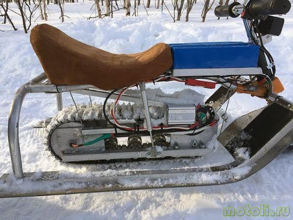 Самодельный снегоход из бензопилы - мотоснег