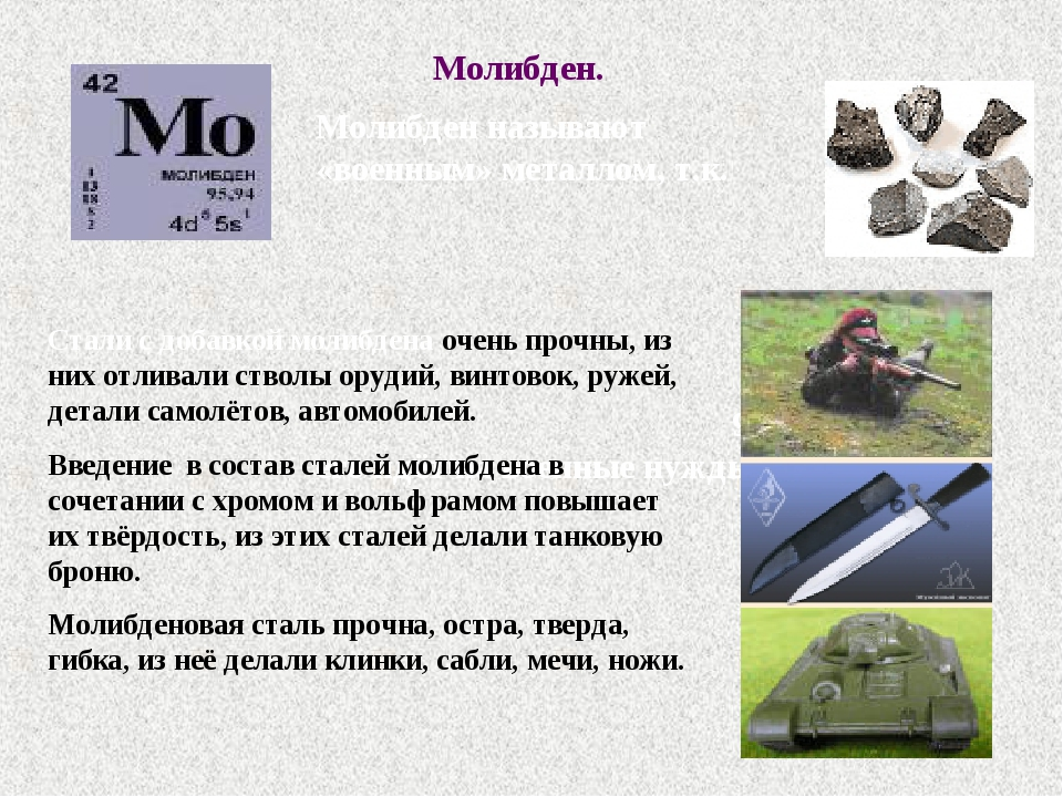 Молибден mo - таблица менделеева - электронный учебник k-tree