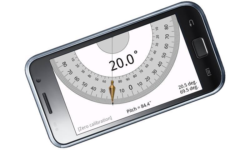 Угломер своими руками из транспортира и мобильного телефона