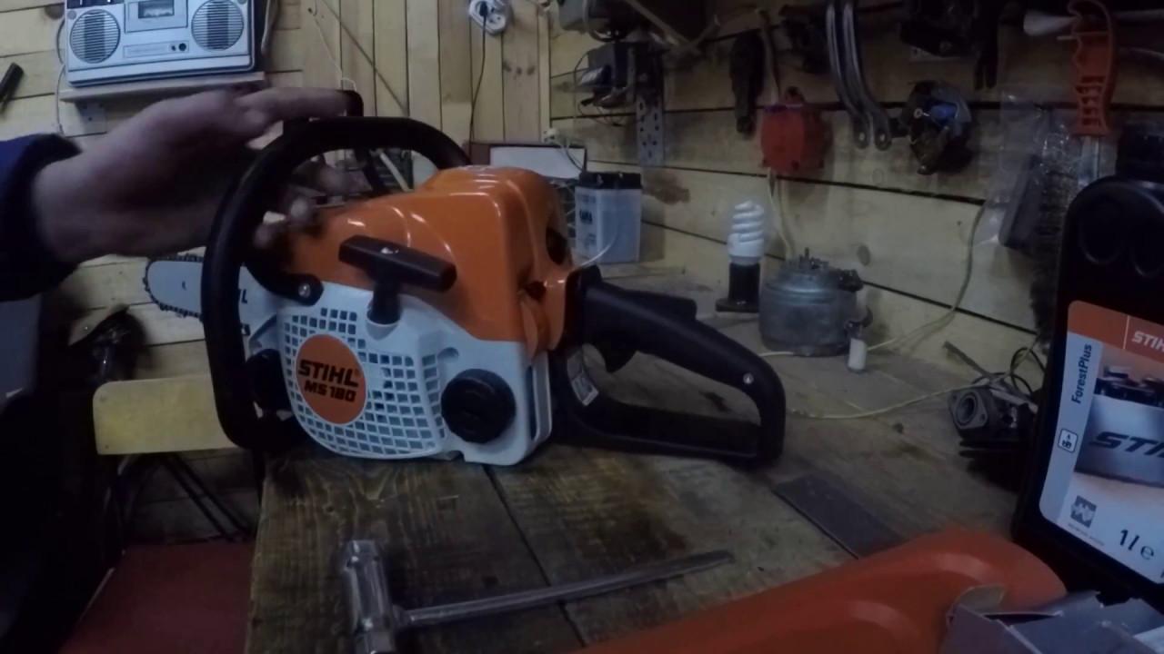 Обкатка бензопилы - как правильно обкатать новую штиль-180